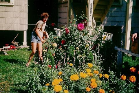 Ma in her garden - 1968