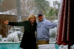 SNOW IN PB GARDEN